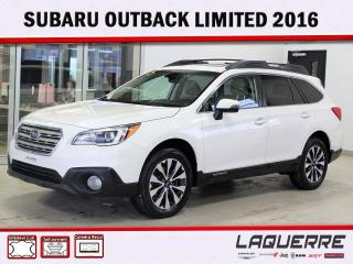 Used 2016 Subaru Outback 2.5i w-Limited Pkg for sale in Victoriaville, QC
