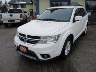 Used 2015 Dodge Journey FAMILY MOVING SXT MODEL 7 PASSENGER 3.6L - DOHC.. BENCH & THIRD ROW.. NAVIGATION.. BLUETOOTH.. DVD PLAYER.. TOUCH SCREEN DISPLAY.. for sale in Uxbridge, ON