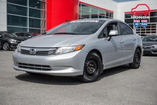 Used 2012 Honda Civic GARANTIE 1 AN /10,000 KILO DISPONIBLE* 02220B  ARGENT for sale in Terrebonne, QC