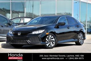 Used 2017 Honda Civic HATCHBACK LX MANUELLE 1.5TURBO AC*MANUELLE*CAMERA*SIEGES CHAUFFANTS*++ for sale in Lachine, QC
