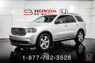 Used 2011 Dodge Durango 7 PLACES + NAVI + V8 + CUIR + WOW! for sale in St-Basile-le-Grand, QC