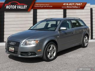 Used 2008 Audi A4 Avant 2.0T Quattro Wgn S-Line! for sale in Scarborough, ON