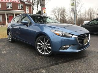 Used 2018 Mazda MAZDA3 GT Navi-Htd Lthr Seats-Backup-Sunroof-Alloys-Heads Up Display for sale in London, ON