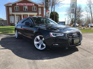 Used 2013 Audi A5 2.0T Premium Quattro-Htd Lthr Seats-Sunroof-Bluetooth-Alloys for sale in London, ON