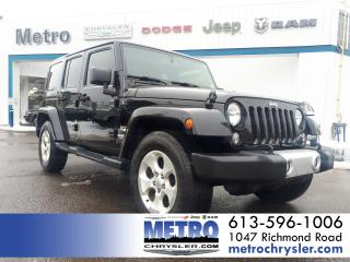 Used 2015 Jeep Wrangler Unlimited Sahara GPS 4 DOOR for sale in Ottawa, ON