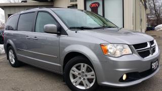 Used 2015 Dodge Grand Caravan Crew - NAV! BACK-UP CAM! DVD! PWR DOORS! for sale in Kitchener, ON