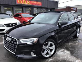Used 2017 Audi A3 2.0T Komfort-TOIT OUVRANT-CAM RECUL-BLUETOOTH- for sale in Laval, QC