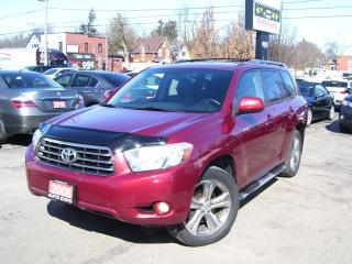 Used 2008 Toyota Highlander Sport,AWD,7 PASS,LEATHER,SUNROOF,BACK-UP CAMERA for sale in Kitchener, ON