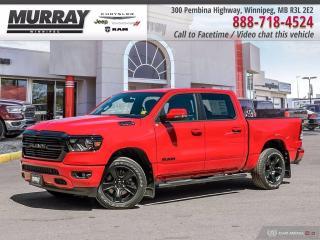 New 2020 RAM 1500 Big Horn 4x4 Crew Cab $269 BW @ 0% WOW! for sale in Winnipeg, MB