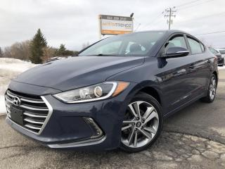 Used 2017 Hyundai Elantra GLS Sunroof! Heated Steering, Heated Front and Rear Seats, BackupCam, Alloy Wheels, Steering Wheel Contr for sale in Kemptville, ON