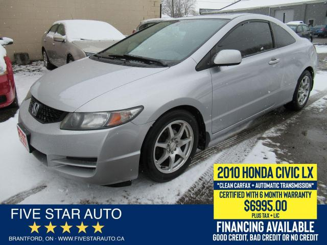 2010 Honda Civic LX *Clean Carfax* Certified w/ 6 Month Warranty