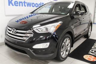 Used 2016 Hyundai Santa Fe Sport 3 Mos Deferral! *oac | Limited AWD 2.0T with NAV, sunroof, heated/cooled power leather seats, heated steering wheel, heated rear seats, push start/stop, power liftgate and a back up cam for sale in Edmonton, AB