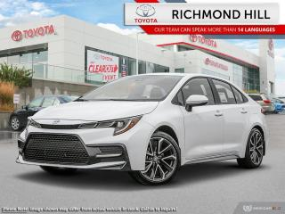 New 2020 Toyota Corolla SE Upgrade Package  - Sunroof - $77.66 /Wk for sale in Richmond Hill, ON