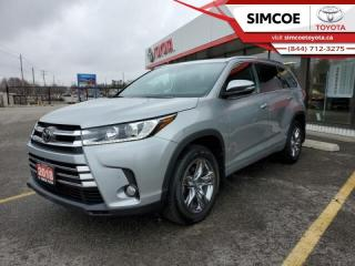 Used 2018 Toyota Highlander Limited AWD  - One owner - $270 B/W for sale in Simcoe, ON