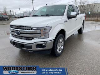 New 2020 Ford F-150 Lariat  502A, CREW, 5.0L, POWER BRD, MOONROOF, ADPT for sale in Woodstock, ON