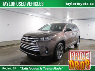 Used 2017 Toyota Highlander Limited REDUCED! PRICE DROP for sale in Regina, SK