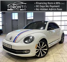 Used 2013 Volkswagen Beetle 2.0T Turbo NAVI Red Leather Heated Seats 6Speed Manual for sale in North York, ON