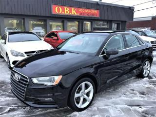 Used 2016 Audi A3 Quattro 2.0T Komfort-TOIT OUVRANT-BLUETOOTH for sale in Laval, QC