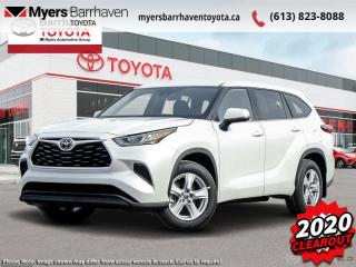 New 2020 Toyota Highlander LE  - $274 B/W for sale in Ottawa, ON