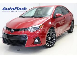 Used 2015 Toyota Corolla S* Cuir/Leather *Camera *Toit-Ouvrant/Sunroof*Mags for sale in St-Hubert, QC