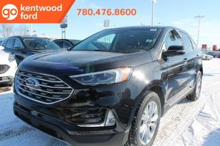 New 2020 Ford Edge Titanium 301A AWD 2.0L I4 Ecoboost, Power Heated Leather Seats, Auto Start/Stop, Lane Keeping System, Pre-Collision Assist, Remote Vehicle Start, Reverse Camera System, and Reverse Sensing System for sale in Edmonton, AB