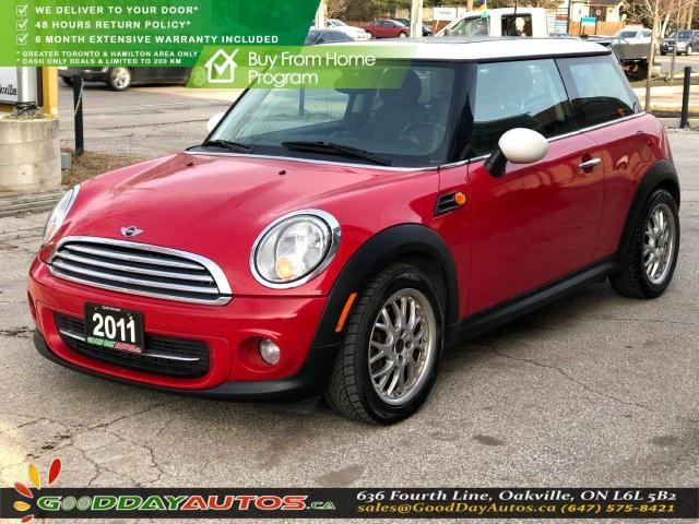 2011 MINI Cooper LOW KM|NO ACCIDENT|LEATHER|SUNROOF|BT|CERTIFIED