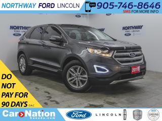 Used 2016 Ford Edge SEL | AWD | NAV | LEATHER | PUSH START | PANOROOF for sale in Brantford, ON
