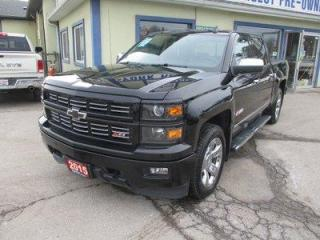 Used 2015 Chevrolet Silverado 1500 LOADED LTZ - Z71 EDITION 5 PASSENGER 5.3L - V8.. 4X4.. CREW-CAB.. SHORTY.. LEATHER.. HEATED/AC SEATS.. SUNROOF.. BACK-UP CAMERA.. BLUETOOTH.. for sale in Bradford, ON