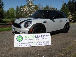 Used 2013 MINI Cooper S, AUTO, INSP, BCAA MBSHP, FINANCE, WARRANTY for sale in Surrey, BC