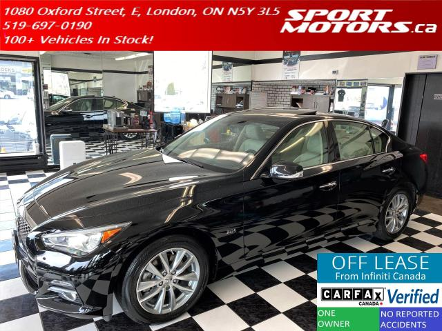 2016 Infiniti Q50 2.0t+AWD+360 Camera+GPS+New Pirellis+Accident Free