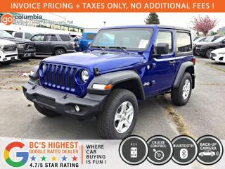 New 2020 Jeep Wrangler Sport S for sale in Richmond, BC