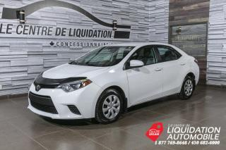 Used 2014 Toyota Corolla LE+GR/ELEC+A/C+CAM/REC+BLUETOOTH for sale in Laval, QC