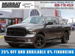 New 2020 RAM 1500 Classic Express 4x4 Crew Cab Save $12,983 - $238/bw for sale in Winnipeg, MB