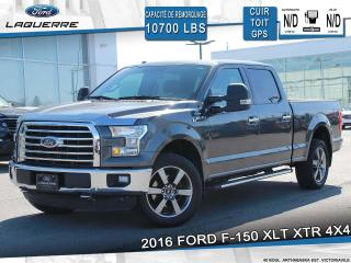 Used 2016 Ford F-150 XLT XTR 4X4 **TOIT*GPS*CAMERA*SYNC 3*BLUETOOTH** for sale in Victoriaville, QC