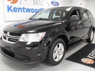Used 2015 Dodge Journey Canada Value pkg FWD black on black for sale in Edmonton, AB