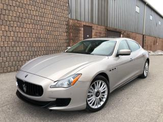 Used 2014 Maserati Quattroporte S Q4-AWD-NAVI-CAMERA-DVD-1 OWNER for sale in Toronto, ON