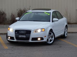 Used 2008 Audi A4 S-LINE,AWD,LEATHER,REAR-HEATED SEATS,NO-ACCIDENTS, for sale in Mississauga, ON