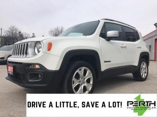 Used 2017 Jeep Renegade LIMITED DUAL SUNROOF 4X4 for sale in Mitchell, ON