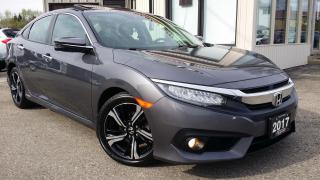 Used 2017 Honda Civic Touring Sedan - LEATHER! NAV! BACK-UP/BLIND-SPOT CAM! CAR PLAY! for sale in Kitchener, ON