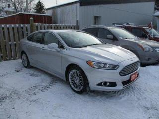 Used 2015 Ford Fusion ALL-WHEEL DRIVE SE EDITION 5 PASSENGER 2.0L - ECO-BOOST.. NAVIGATION.. LEATHER.. HEATED SEATS.. POWER SUNROOF.. BACK-UP CAMERA.. for sale in Bradford, ON