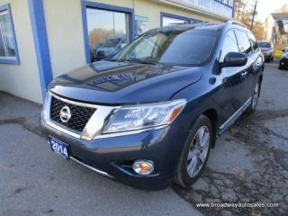 Used 2014 Nissan Pathfinder FOUR-WHEEL DRIVE PLATINUM EDITION 7 PASSENGER 3.5L - V6.. BENCH & 3RD ROW.. NAVIGATION.. POWER SUNROOF.. LEATHER.. HEATED SEATS.. for sale in Bradford, ON