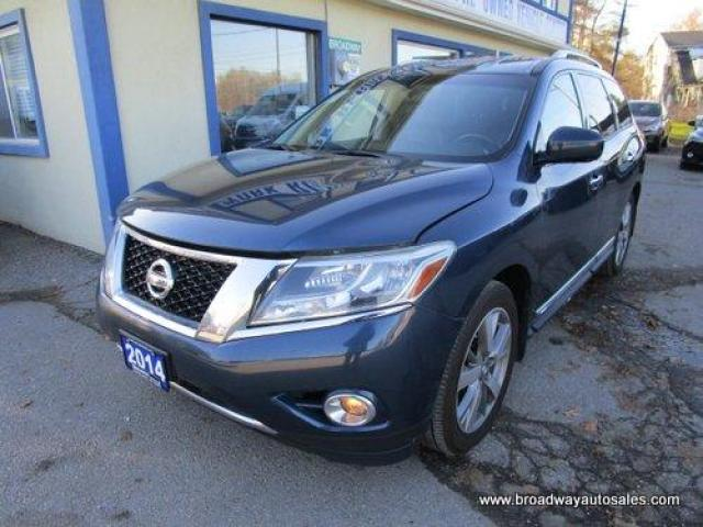 2014 Nissan Pathfinder FOUR-WHEEL DRIVE PLATINUM EDITION 7 PASSENGER 3.5L - V6.. BENCH & 3RD ROW.. NAVIGATION.. LEATHER.. HEATED SEATS.. TOUCH SCREEN DISPLAY..