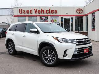 Used 2018 Toyota Highlander AWD XLE | ONE OWNER | LEASE RETURN for sale in North York, ON