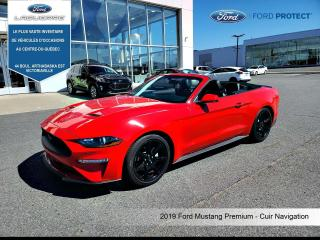 Used 2019 Ford Mustang PREMIUM **CUIR*GPS*CAMERA*FORDPASS*SYNC 3** for sale in Victoriaville, QC