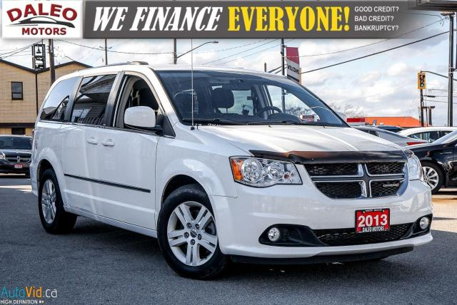 2013 Dodge Grand Caravan CREW PKG / REAR A/C / STOW N' GO / BLUETOOTH