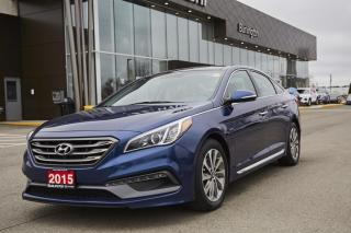 Used 2015 Hyundai SONATA SPORT * LEATHER/CLOTH * REAR CAM * PANORAMIC SUNROOF * BLUETOOTH SONATA SPORT 2.4L | ONE OWNER | CLEAN CARFAX | for sale in Burlington, ON