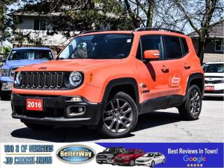 Used 2016 Jeep Renegade 75th Anniversary|SUNROOF |4X4 |LOW KM for sale in Stoney Creek, ON