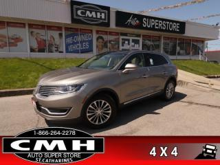 Used 2016 Lincoln MKX Select  AWD NAV PANO-ROOF CAM P/SEATS for sale in St. Catharines, ON