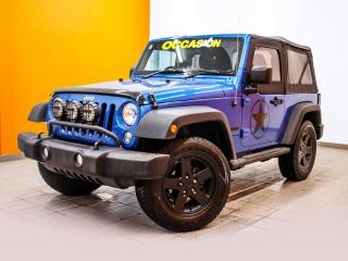 Used 2016 Jeep Wrangler SPORT 4X4 *BAS KM* A/C *GR. OFF-ROAD* PROMO for sale in Mirabel, QC