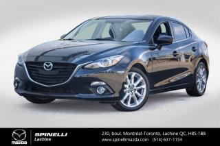 Used 2015 Mazda MAZDA3 GT CUIR SYS AUDIO BOSE PREMIER PAIEMENT EN 3 MOIS MAZDA 3 GT 2015 for sale in Lachine, QC